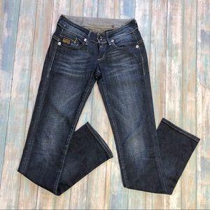 G-STAR Raw Denim Straight Leg Jeans Sz 25